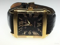 Часы Русское время 1930, чёрный кожаный ремень, б\у,п\ц