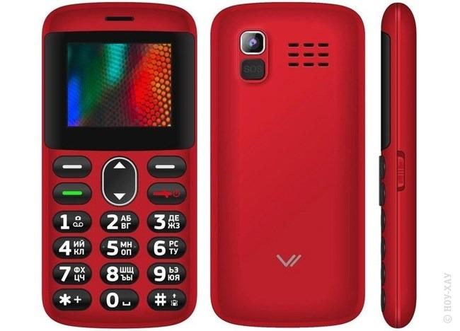 Телефон VERTEX C311 красный