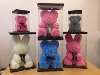 Заяц из 3D большой (розовый)