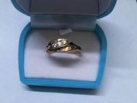Кольцо с 3 бриллиантами Золото 585 (14K) вес 3.03 г