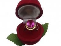 Кольцо с камнем Золото 585 (14K) вес 6.39 г