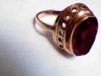 Кольцо с камнем Золото 585 (14K) вес 5.22 г