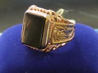 Перстень с камнем лом. Золото 585 (14K) вес 9.34 г