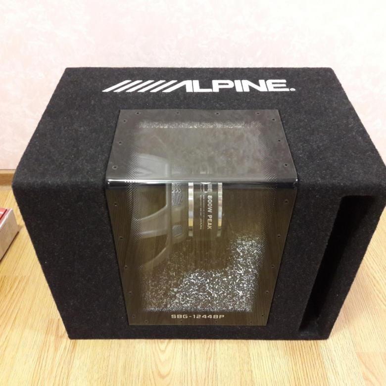 Автомобильный сабвуфер Alpine SBG-1244BP