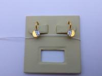 Серьги с камнями Золото 585 (14K) вес 1.45 г