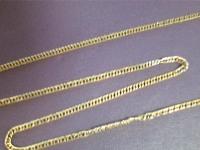Цепочка с изломами Золото 585 (14K) вес 1.61 г