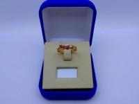 Кольцо с камнями Золото 585 (14K) вес 1.81 г