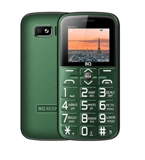Телефон BQ 1851 Respect, зеленый
