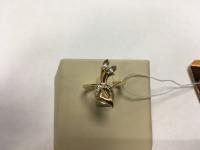 Кольцо с двумя камнями  Золото 585 (14K) вес 2.80 г