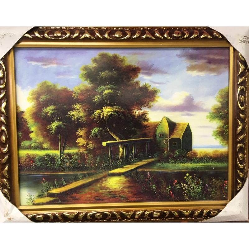 Картина мост возле дома