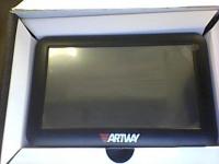 Навигатор Artway NV-800 GPS, в рабочем состоянии, с з/у, крепление, б/у, коробка