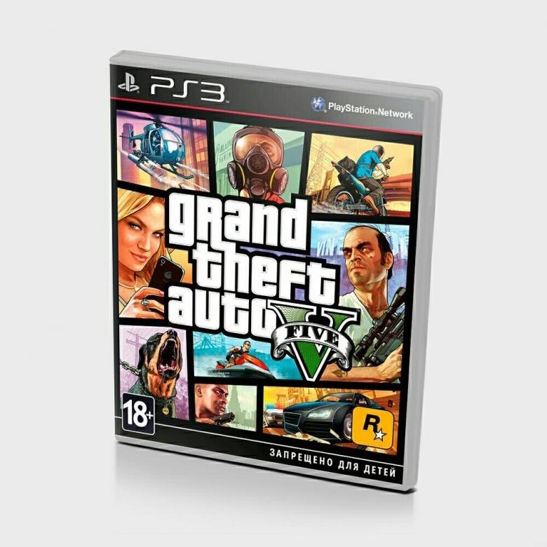 Диск на PS3 GTA 5