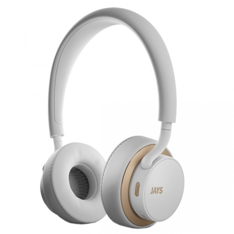 Наушники Bluetooth Jays U-Jays Wireless White/Gold (T00184)