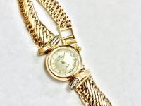 Часы женские с браслетом вставки бриллианты Золото 585 (14K) вес 20.74 г