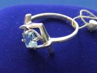 Кольцо с камнями  Серебро 925 вес 3.38 г