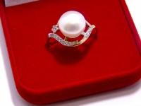 Кольцо с камнями Золото 585 (14K) вес 3.92 г