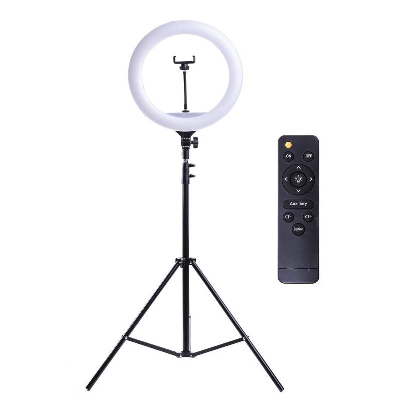Кольцевая лампа Dimmable lamp LED 32см с штативом + ПДУ