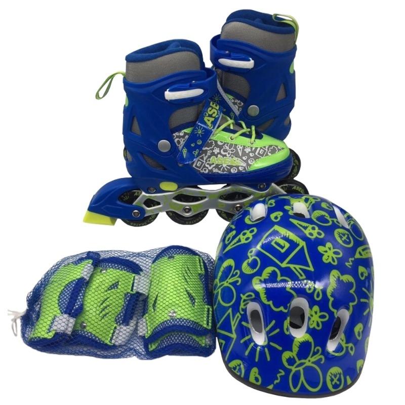 Детские Ролики Ase Sport +шлем и защита