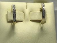 Серьги с бриллиантами  Золото 585 (14K) вес 1.30 г