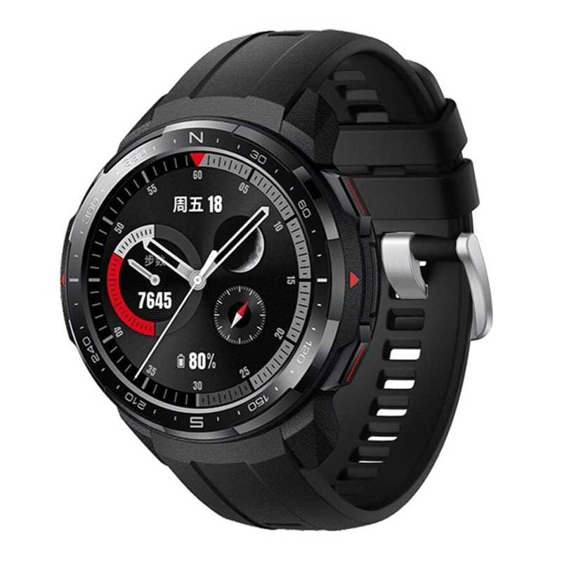 Умные часы HONOR Watch GS Pro (silicone strap), угольный черный
