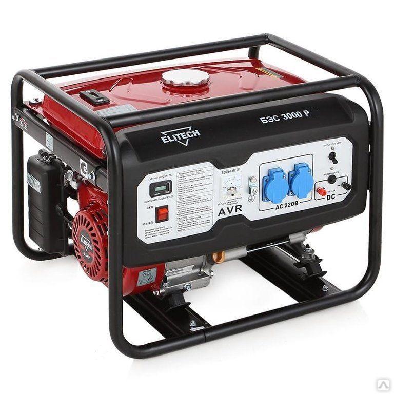 Бензиновый генератор ELITECH БЭС 3000 Р (2500 Вт)