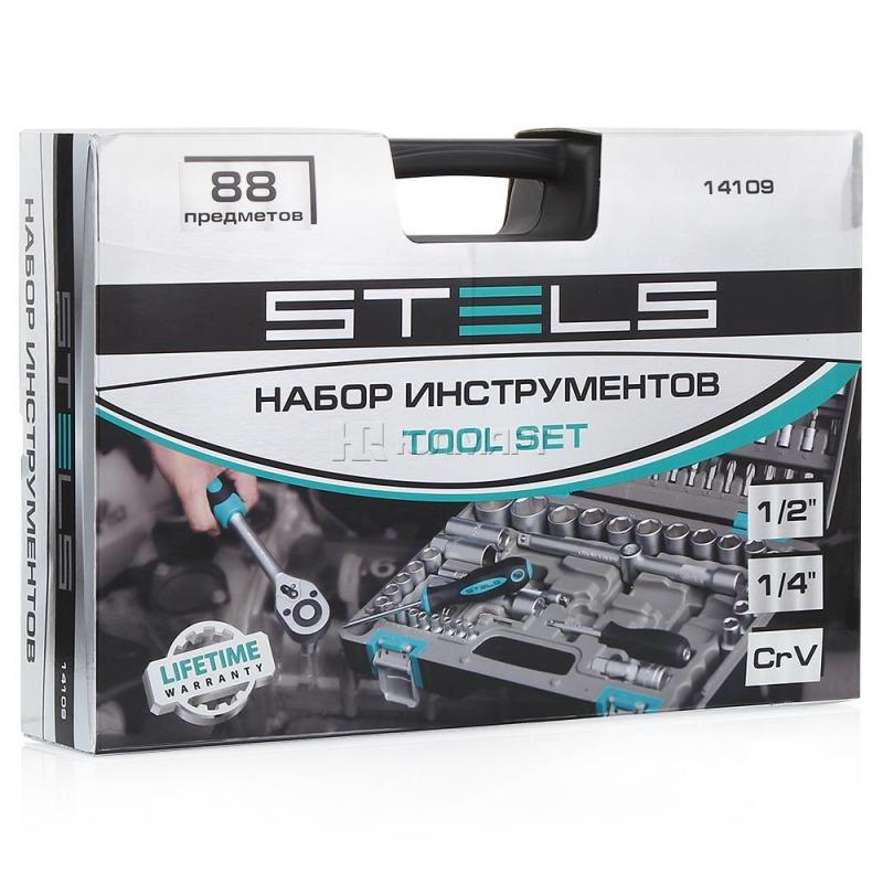 Набор автомобильных инструментов Stels 14109 (88 предм.)
