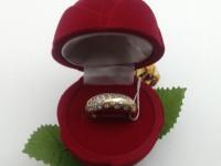 Кольцо с камнями Золото 585 (14K) вес 4.20 г