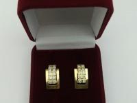 Серьги  с  камнями Золото 585 (14K) вес 5.43 г