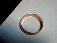 Кольцо гладкое Золото 585 (14K) вес 2.24 г