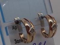 Серьги Золото 585 (14K) вес 3.31 г