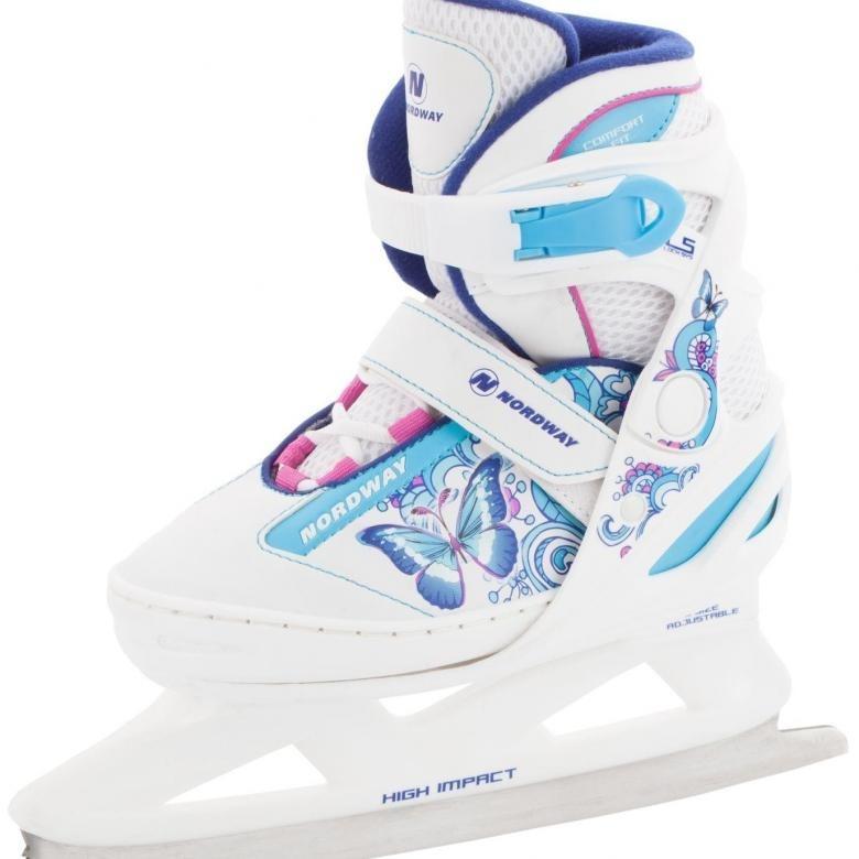 Ледовые коньки раздвижные для девочек Nordway Slide-Girl 26-30р-р