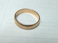 Кольцо обруч Золото 585 (14K) вес 3.22 г