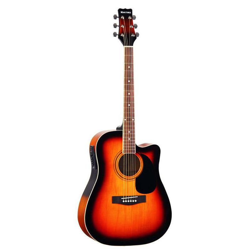 Электроакустическая гитара Martinez FAW-702CEQ VS