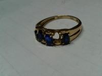 Кольцо  с камнями без 1 камня Золото 585 (14K) вес 2.62 г