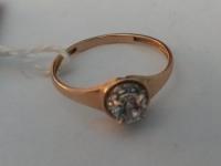Кольцо с множеством белых камней Золото 585 (14K) вес 1.10 г