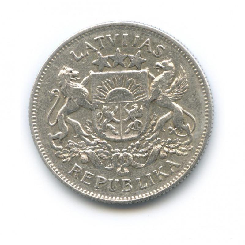 Монета серебряная 2 лата 1925 Латвия