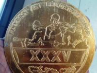 *медальон участнику ВОВ г. Луховицы 1980г.