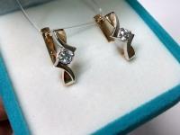 Серьги с бриллиантами Золото 585 (14K) вес 4.09 г