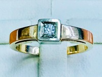 Кольцо с бриллиантом Золото 585 (14K) вес 4.54 г