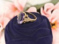 Кольцо с камнями  Золото 585 (14K) вес 5.22 г