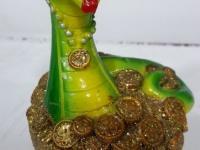 Статуэтка - Копилка змея на деньгах