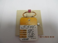 Кольцо с 1 камнем 583 пробы б/у, п/ц Золото 585 (14K) вес 1.95 г