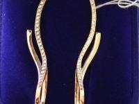 Серьги 1 пара с камнями. Золото 585 (14K) вес 6.42 г