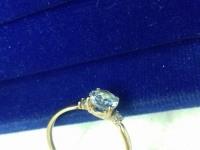 Кольцо с камнями  Золото 585 (14K) вес 1.40 г