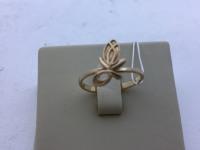 Кольцо лилия Золото 585 (14K) вес 1.40 г