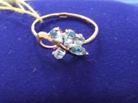 Кольцо с камнями  Золото 585 (14K) вес 1.13 г