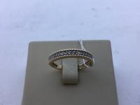 Кольцо широкая дорожка из мелких камней  Золото 585 (14K) вес 2.30 г