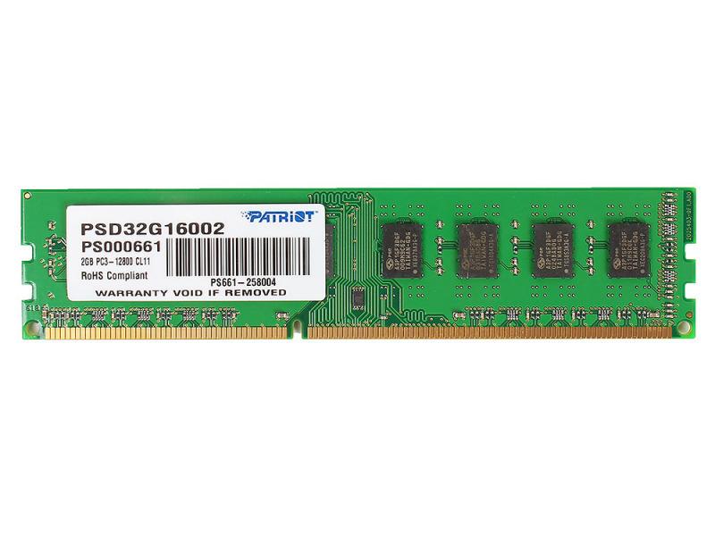 Оперативная память Patriot Signature [PSD32G16002] 2 ГБ