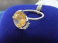 Кольцо с камнями  Серебро 925 вес 3.91 г