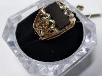Перстень муж с камнем Золото 585 (14K) вес 6.80 г